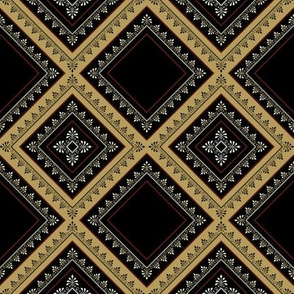 Victorian Floral Pattern Browns Diagonal