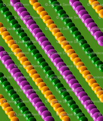 Harlequin Mardi Gras Beads