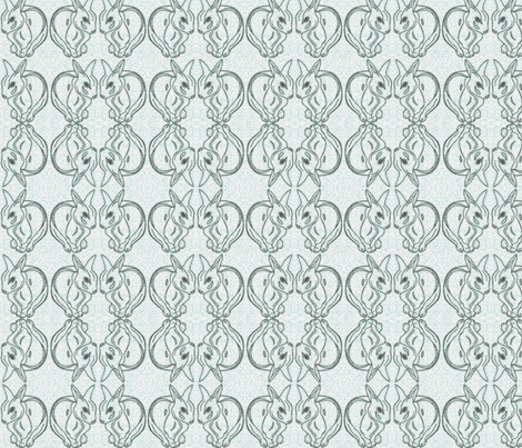 Impressionist_rabbits_inverted-blue fabric by nardiat on Spoonflower - custom fabric