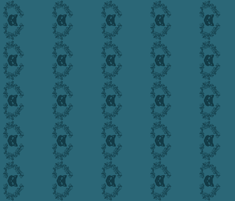 kittenborder fabric by mirromaru on Spoonflower - custom fabric
