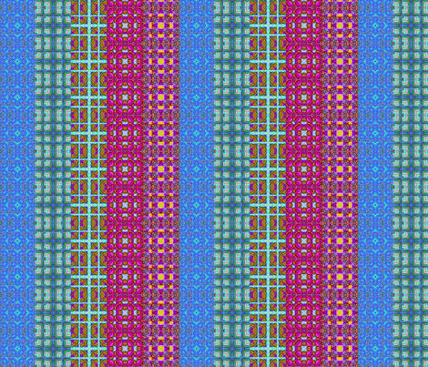 Border squares stripes bright fabric by koalalady on Spoonflower - custom fabric