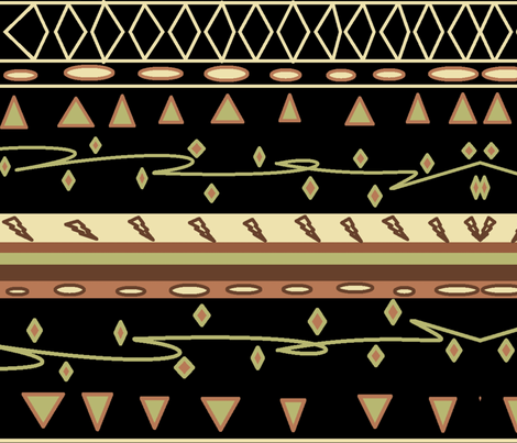 ZULU MUD CLOTH fabric by bluevelvet on Spoonflower - custom fabric