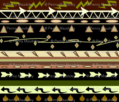 AFRICAN ARROWS MUD CLOTH