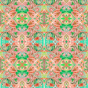Peachy Keen Flower Blossom Spring (a delicately lined abstract)
