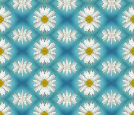 Daisy fabric by koalalady on Spoonflower - custom fabric