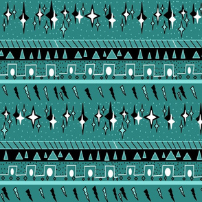 TEAL MUD CLOTH