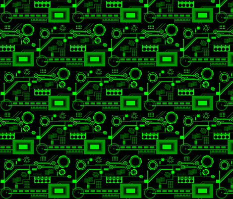 Circuits fabric by mirromaru on Spoonflower - custom fabric