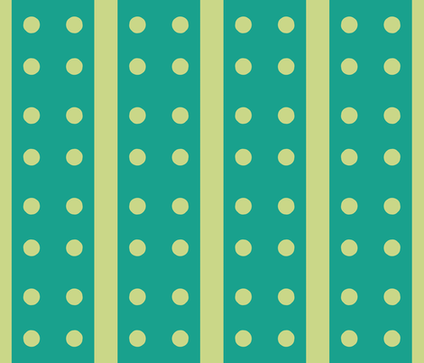 Dotty Green Stripes fabric by susaninparis on Spoonflower - custom fabric