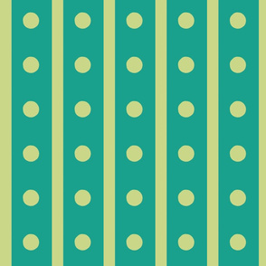 Green Dotty Stripes