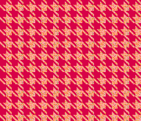 Pink Houndstooth fabric by alinichole on Spoonflower - custom fabric