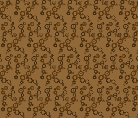 Gears fabric by mirromaru on Spoonflower - custom fabric