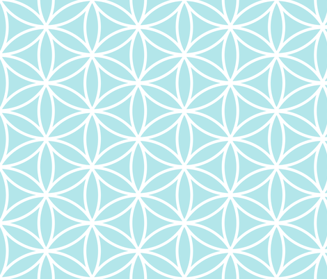 Flower of Life BM fabric by pixeldust on Spoonflower - custom fabric