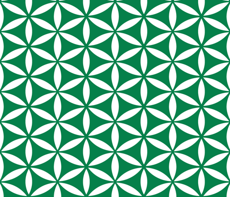 Flower of Life - Emerald fabric by pixeldust on Spoonflower - custom fabric