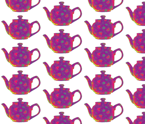 Teapot  Red fabric by koalalady on Spoonflower - custom fabric