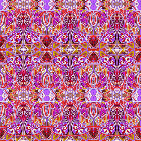 In Flaming Flamenco Flamingo Colors fabric by edsel2084 on Spoonflower - custom fabric