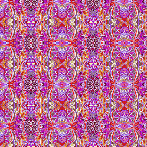 Vertical Stripe of the Fire Goddess  fabric by edsel2084 on Spoonflower - custom fabric