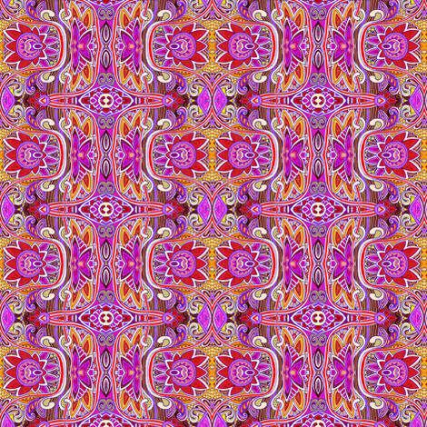 When I Close My Eyes There is a Psychedelic 1880's Exploding  fabric by edsel2084 on Spoonflower - custom fabric