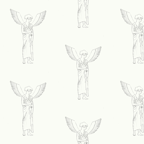 angel  fabric by anieke on Spoonflower - custom fabric
