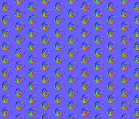 Spiral Dots on Purple Pattern © Gingezel™ 2013 fabric by gingezel on Spoonflower - custom fabric