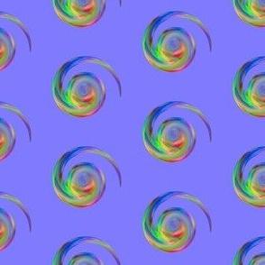 Spiral Dots on Purple Pattern © Gingezel™ 2013