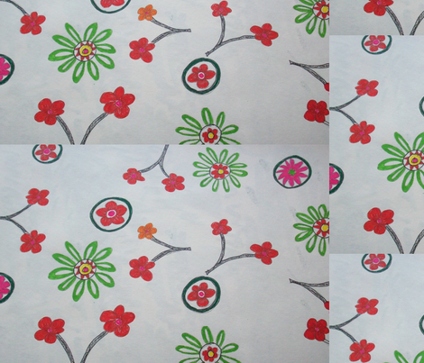red flowers fabric by rachana on Spoonflower - custom fabric