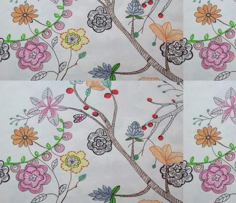 stylised_natural_patterns fabric by rachana on Spoonflower - custom fabric