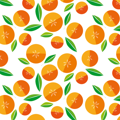 oranges on white fabric by creative_cat on Spoonflower - custom fabric