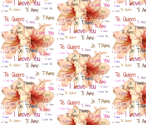 Love Letters (Lily) fabric by arts_and_herbs on Spoonflower - custom fabric