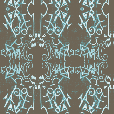 Ice Age Revisited fabric by susaninparis on Spoonflower - custom fabric