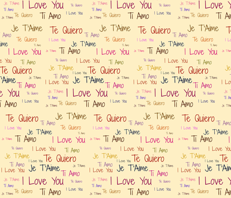 Love Letters (colored) fabric by arts_and_herbs on Spoonflower - custom fabric