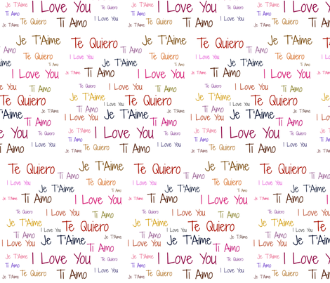 Love Letters (White) fabric by arts_and_herbs on Spoonflower - custom fabric