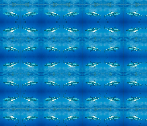 jaws fabric by podaiboo on Spoonflower - custom fabric