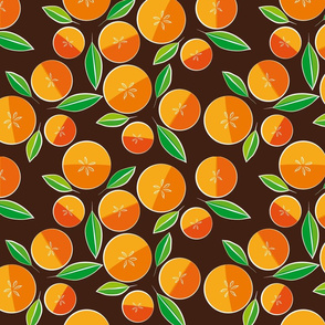 oranges on brown