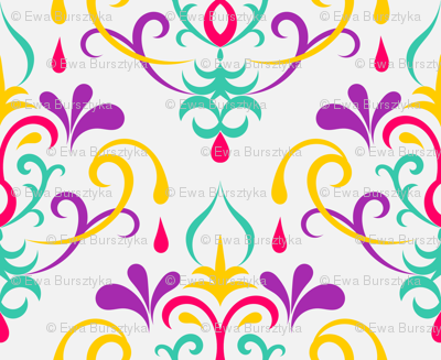 damask medium - multicolor