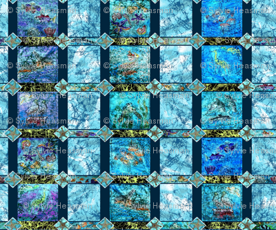 Ocean_Life_Batik_Quilt by Sylvie