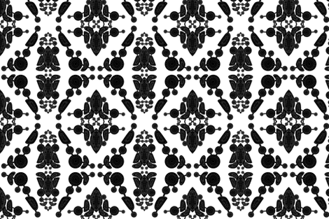 B&amp;W Connection fabric by carissa_paglino on Spoonflower - custom fabric