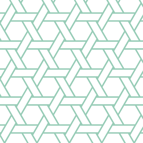 kagome outline in jade fabric by chantae on Spoonflower - custom fabric