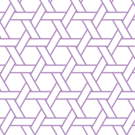 kagome outline in charoite fabric by chantae on Spoonflower - custom fabric