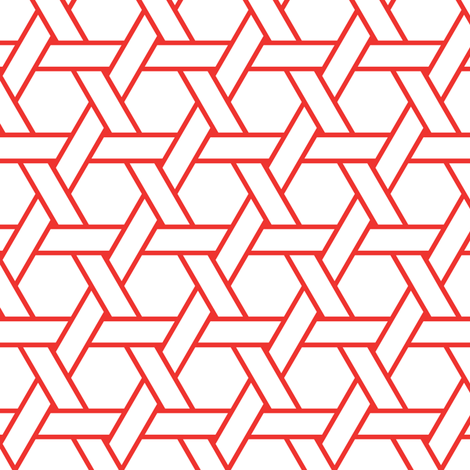 kagome outline in carnelian fabric by chantae on Spoonflower - custom fabric