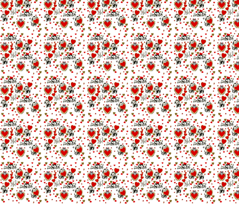 Valentine Doggys fabric by fenderskirt on Spoonflower - custom fabric
