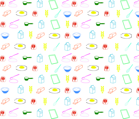 Breakfast fabric by jazzysdesign on Spoonflower - custom fabric