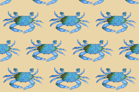 Blue Crabs fabric by golders on Spoonflower - custom fabric