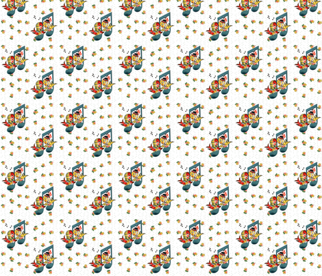 Vintage Chirpy Birds fabric by fenderskirt on Spoonflower - custom fabric
