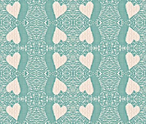 heart electric fabric by materialsgirl on Spoonflower - custom fabric