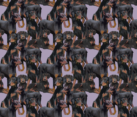 Doberman Mural fabric fabric by dogdaze_ on Spoonflower - custom fabric