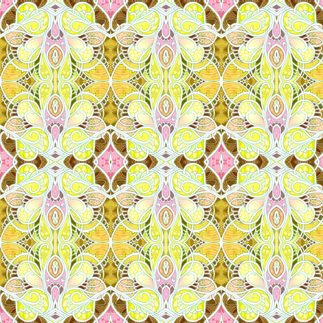 Sugar and Spice and Lemon Ice (delicate feminine abstract) fabric by edsel2084 on Spoonflower - custom fabric