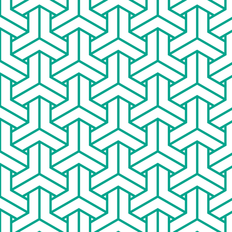 bishamon in emerald fabric by chantae on Spoonflower - custom fabric