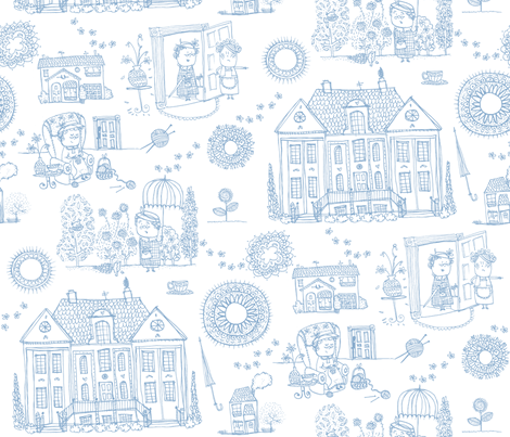Miss Marple fabric by laura_the_drawer on Spoonflower - custom fabric