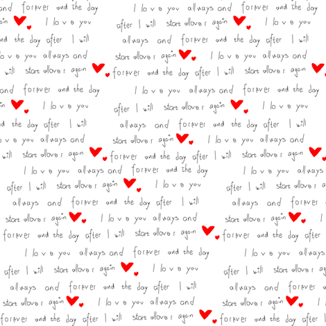 Love Letter fabric by helena_ekberg on Spoonflower - custom fabric