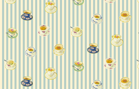 Blooming Tea fabric by shirayukin on Spoonflower - custom fabric